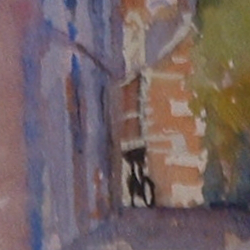 Detail of Little St Mary's Lane Cambrigdge by Steve Williamson